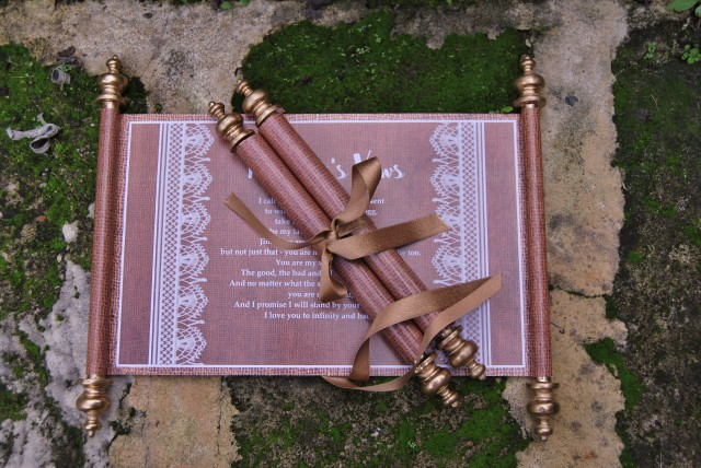 Wedding Scrolls for Your Vows